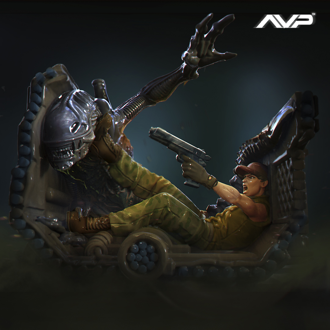 Prodos AVP Alien vs Predator Major Dutch Shaeffer Limited Edition
